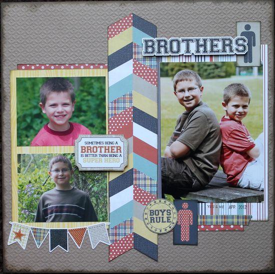 #papercraft #scrapbook #layouts Brothers - Scrapbook.com