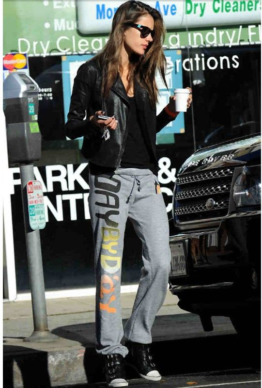 Day by Day Ale Pant in Heather Grey as Seen On Alessandra Ambrosio