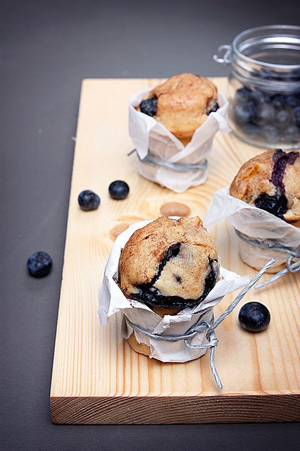 Rustically charmingly wrapped Peach Blueberry Muffins. #food #cooking #foodphotography #baking #muffins #breakfast #desserts #blueberries #peaches