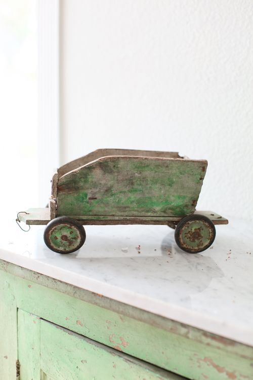 Vintage French Toy Wagon