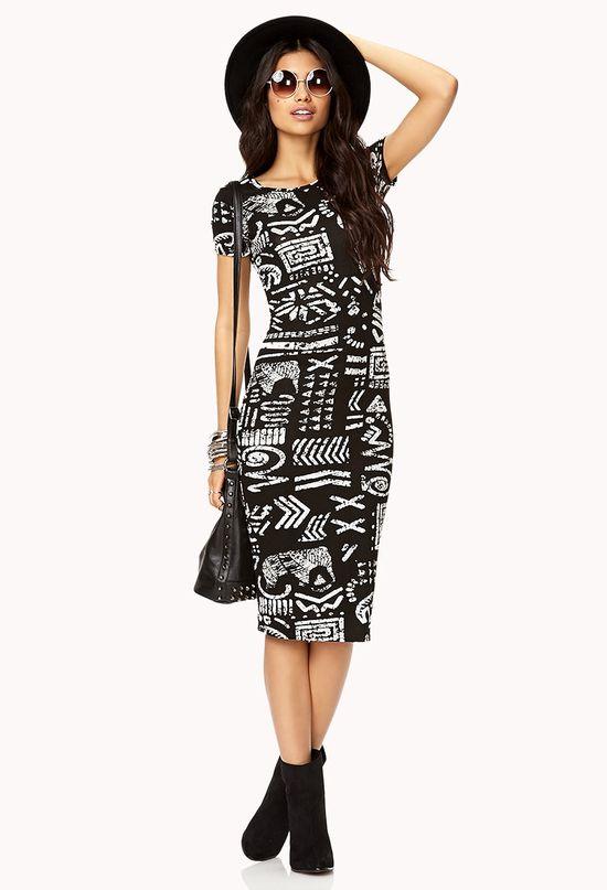 Traveler Tribal Midi Dress