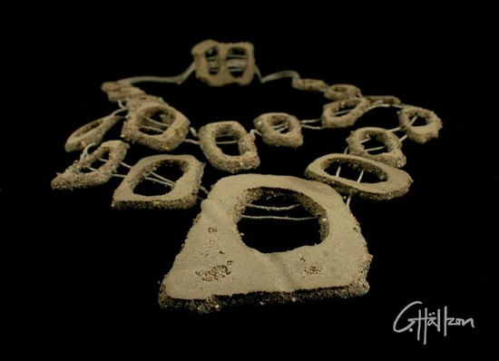 Catarina Hällzon Jewellery - sand necklace - for exhibition at FOUR –