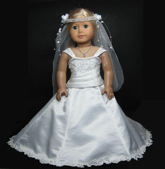Wedding Dress for American Girl Doll. Inspiration.