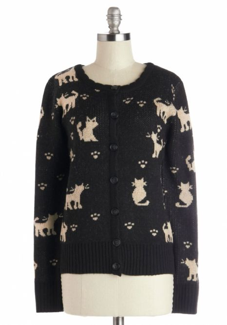 Stay cozy and adorable in this cute cat cardi moderncat.com/...