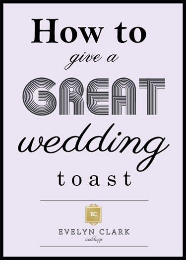 wedding toast tips from Evelyn Clark Weddings
