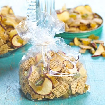 Need a snack? Our Apple Crunch Mix is a delicious and low-calorie treat. Get the recipe here: www.bhg.com/...