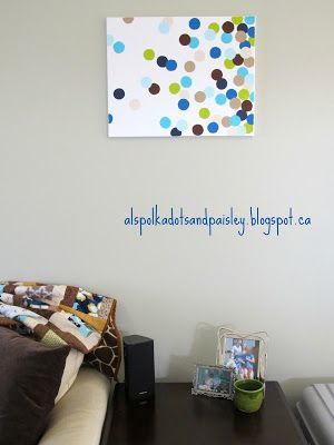 Colourful Graduated Polka Dot Painted Art