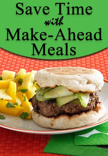 Take the stress out of weeknight cooking with these simple and creative make-ahead #dinner menus.    www.parents.com/...