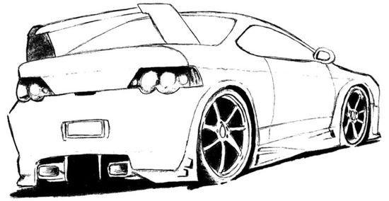 Sport Car Audi Coloring