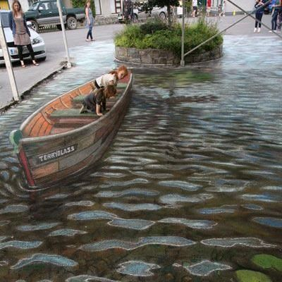Amazing 3D art by Julian Beever. Amazing!