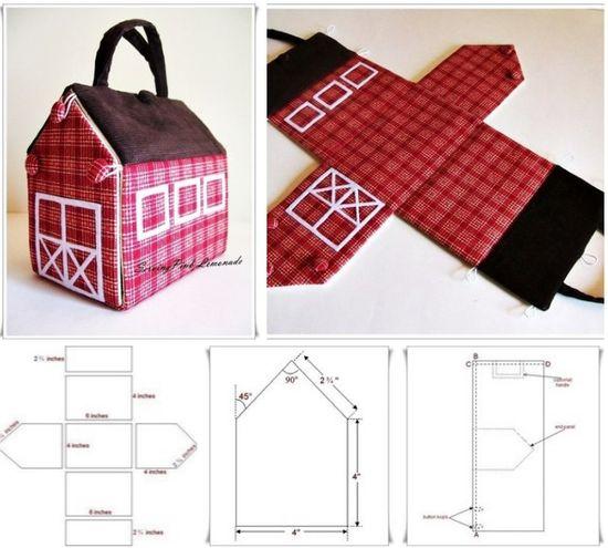 Moldes para hacer una casa de muñecas de tela