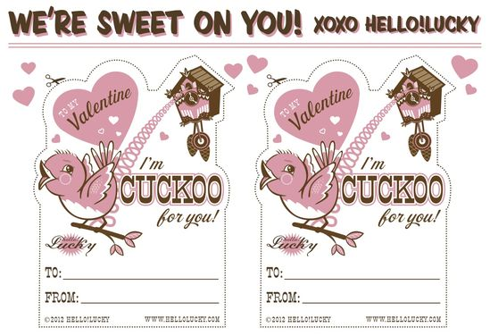 Free! Printable Valentine's Day Cards