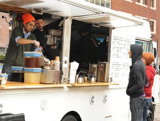Clover Food truck on Carleton Street.