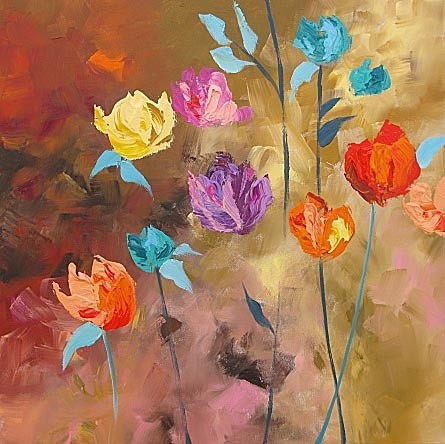 lovely abstract flowers