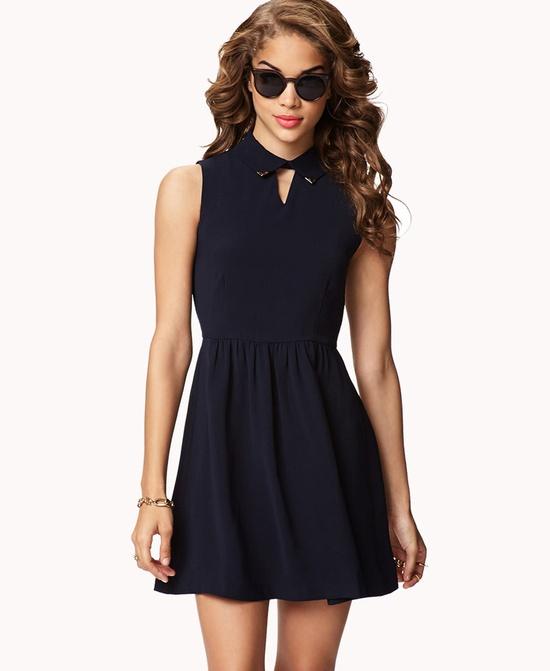 Collar Tips Dress