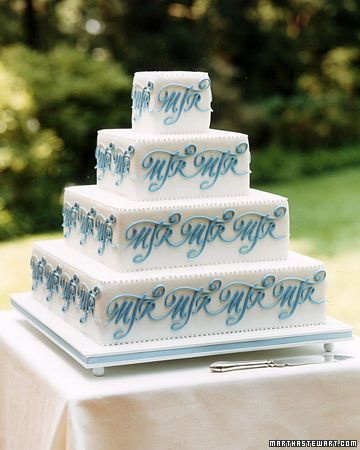 monogrammed wedding cake!!!