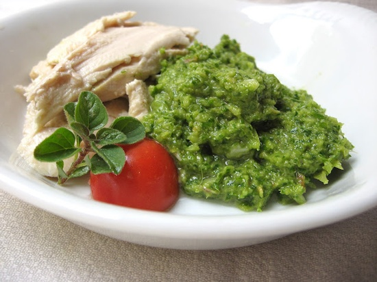 she's in the kitchen: roasted chicken with green garden sauce: the end of summer
