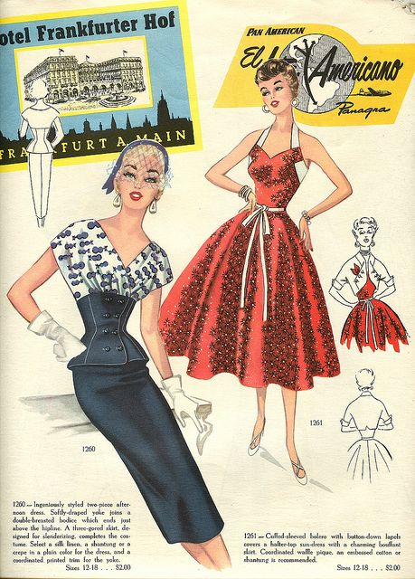 So completely love! ? #vintage #1950s #fashion #dresses #travel