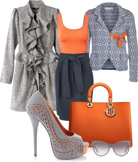 """orange you glad?"" by stephanie-felder ❤ liked on Polyvore"