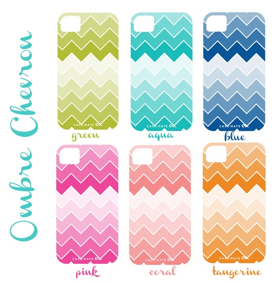 Ombre Chevron IPhone Cover