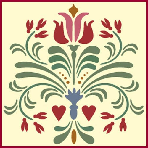 Rosemaling-Pattern-14-Stencil-Swedish-Kurbits-The-Artful-Stencil