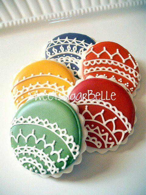 Christmas Ornament Cookies (decorating idea)