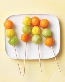 Fruit Skewers- Great Way to Get Kids to Eat Fruit!
