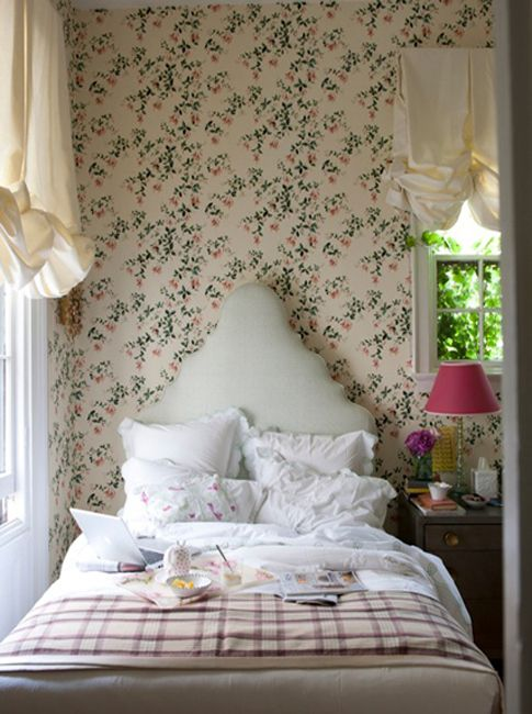 Sweet bedroom by Rita Konig Poseys room idea size...  Want to see the Porthault store in NYC