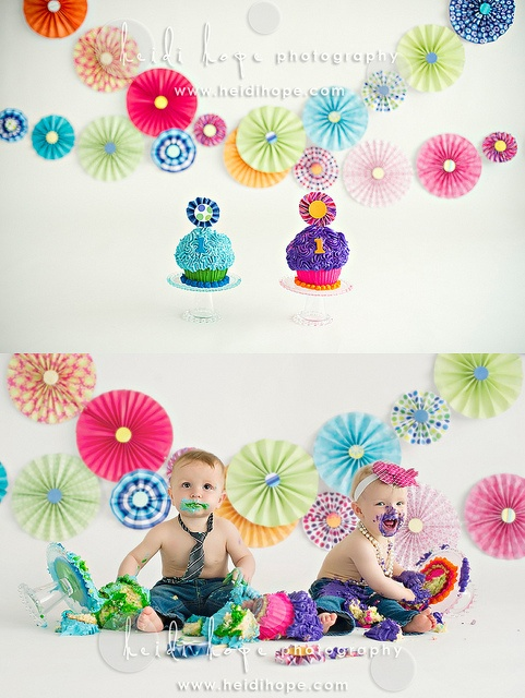 first birthday photo shoot.  Let them eat cake!