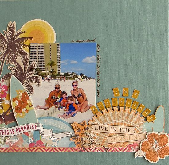 #papercraft #scrapbook #layout  The Girlfriends - Scrapbook.com