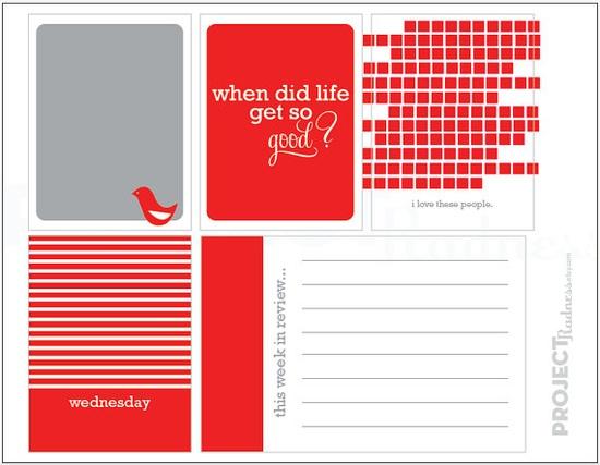 Merry Cherry project life modern scrapbooking by projectradness, $2.00 #projectlife #scrapbooking #printable