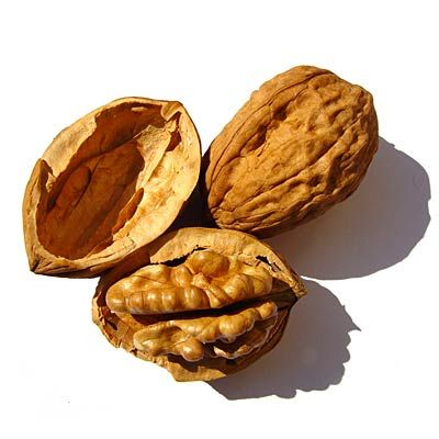 """WALNUTS -- Good for Mood.   Walnuts are packed with tryptophan, an amino acid your body needs to create the feel-great chemical serotonin. (In fact, Spanish researchers found that walnut eaters have higher levels of this natural mood-regulator.) Another perk: """"They're digested slowly,"""" Dr. Katz says. """"This contributes to mood stability and can help you tolerate stress."""""""