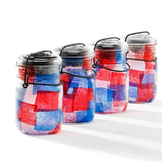 mason jars tea lights