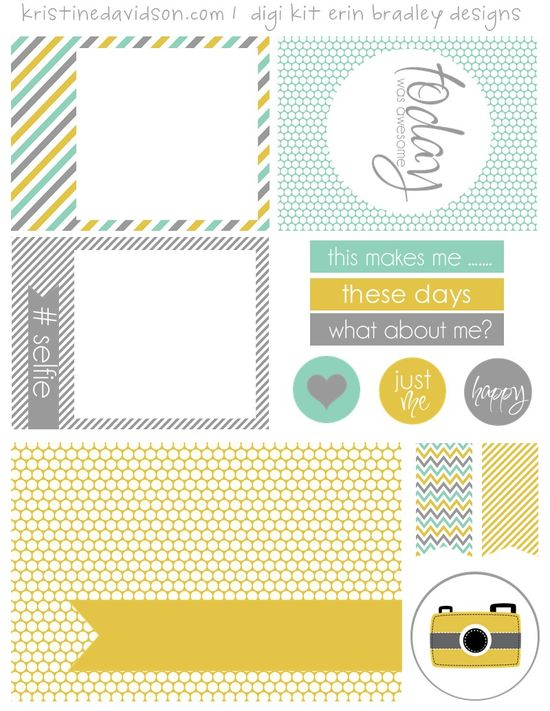 Free What About Me Journal Cards and Labels