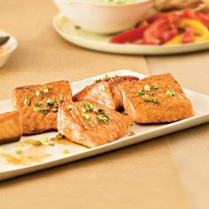 Salmon With Ginger-Orange Glaze #better health solutions #health food