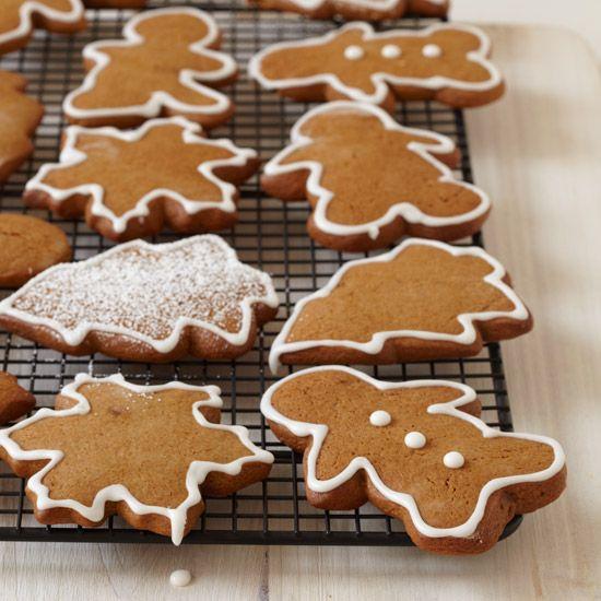 Gingerbread Cookies with Royal Icing // More Beautiful Desserts: www.foodandwine.c... #foodandwine