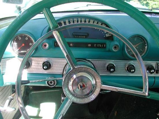 turquoise, vintage car