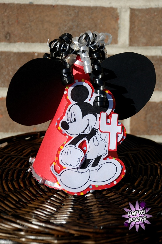 Mickey Mouse Party Hat.