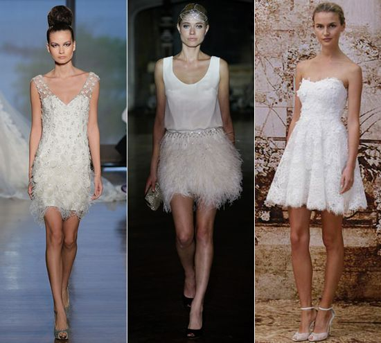 Bridal trends 2014: Short, romantic wedding dresses