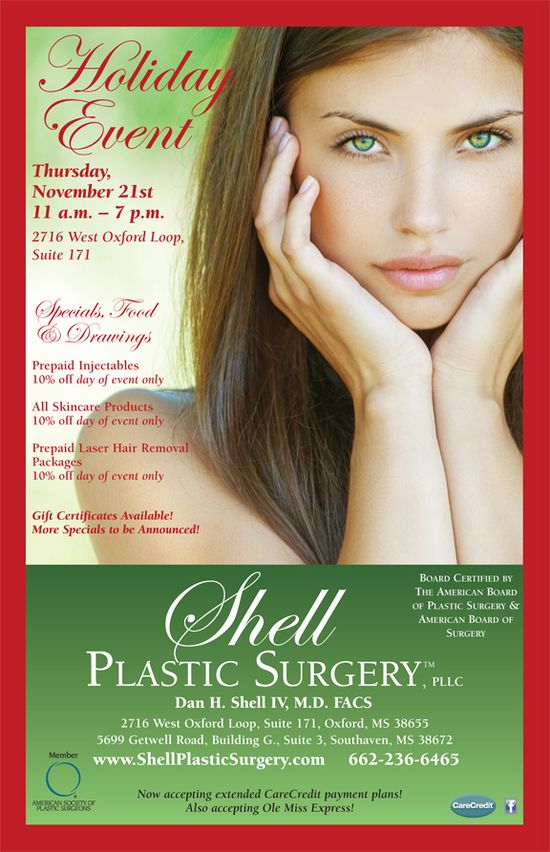 Oxford Holiday Events 2013: Shell Plastic Surgery