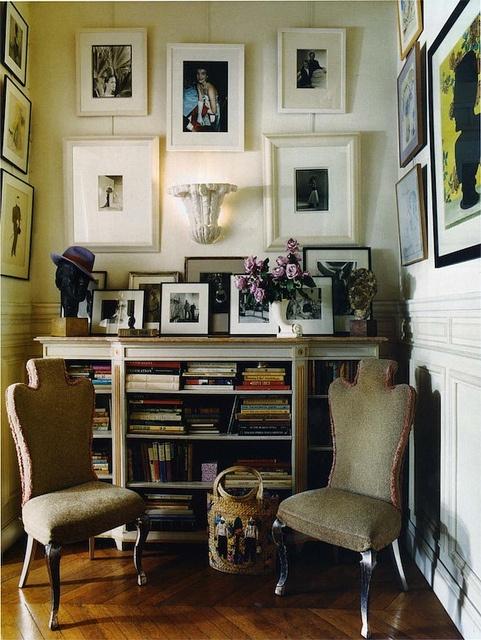 eclectic vintage modern nook
