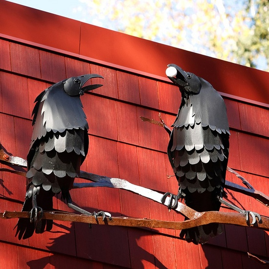Sculptural crows