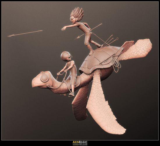 The Sky Fisherman - Model & 3D Print