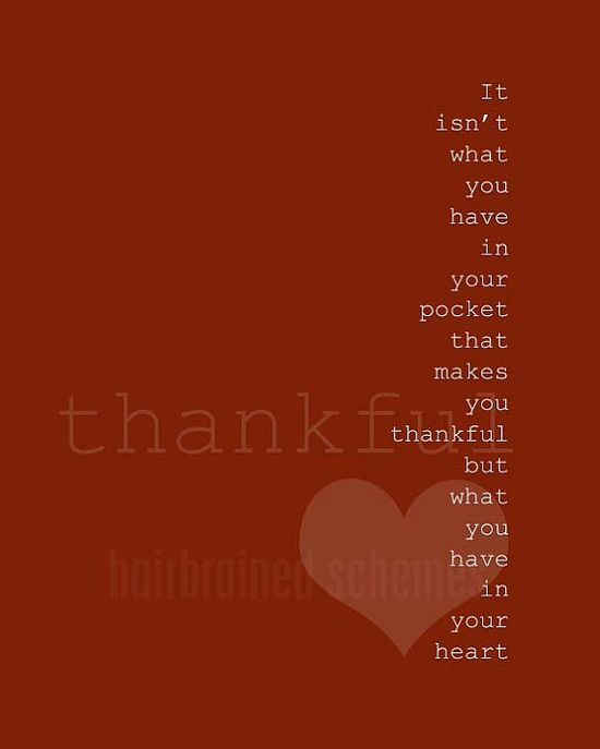 Typography Poster Thankful Thanksgiving by hairbrainedschemes