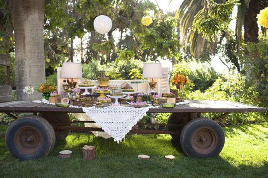 such a cute dessert table idea