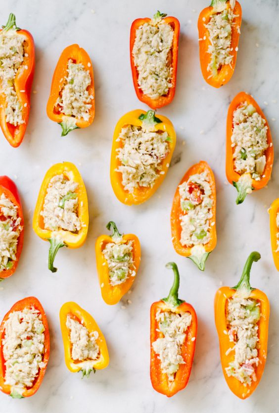Sesame Stuffed Tuna Peppers