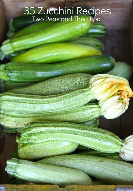 35 Zucchini Recipes (http://www.twopeasandtheirpod.com)