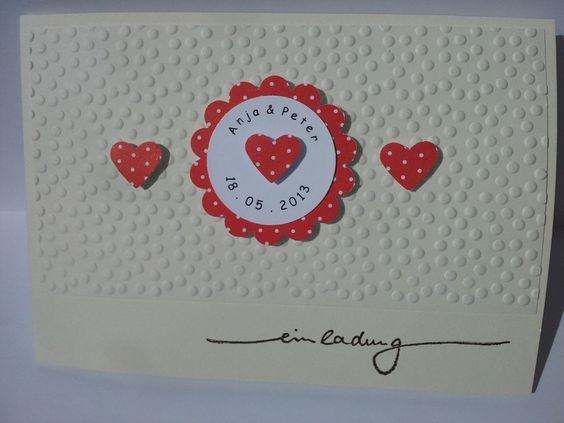 Einladungskarte von Andrea handmade  auf DaWanda.com