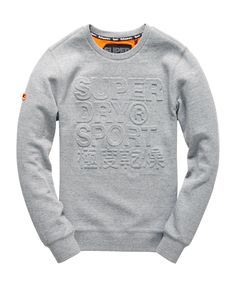 Superdry Gym Tech Embossed Crew Sweatshirt - Men's Tops