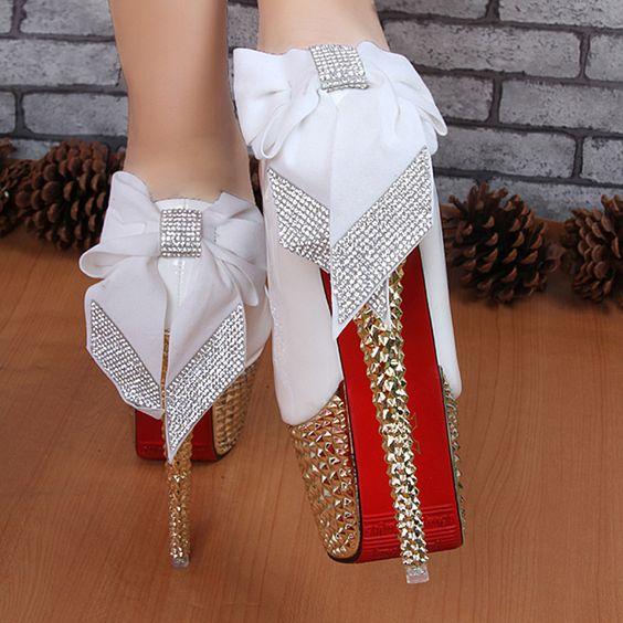 New arrival 2014 women's shoes ultra high heels platform thin ...